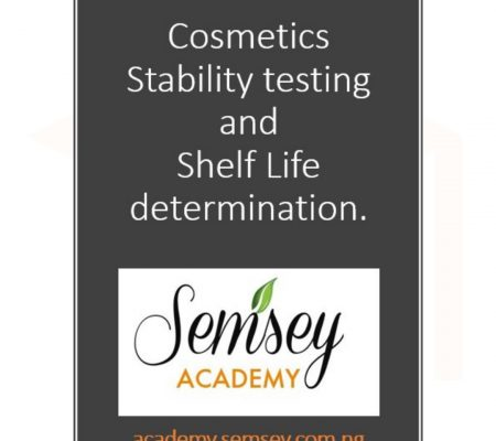 Cosmetics Stability testing and Shelf Life determination