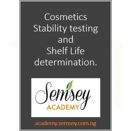 Cosmetics Stability testing and Shelf Life determination